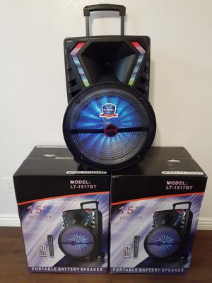 BLUETOOTH SPEAKER USB FM AUXILIAR KAREOKE $100. NEW for Sale in Bloomington, CA
