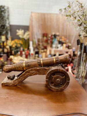 "Antique Wood decor Cannon $60 ""NO HOLDING "" for Sale in Glendale, AZ"