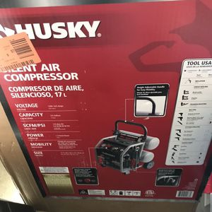 Husky 4.5 Gallon Silent Air Compressor for Sale in Las Vegas, NV