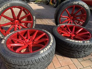 22 inch rims and tires , XO luxury venom 5.130 offset 30 for Sale in Tampa, FL