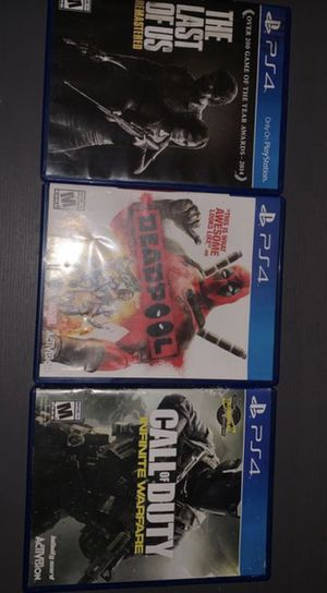 The last of us,Deadpool,call of duty for Sale in Los Angeles, CA