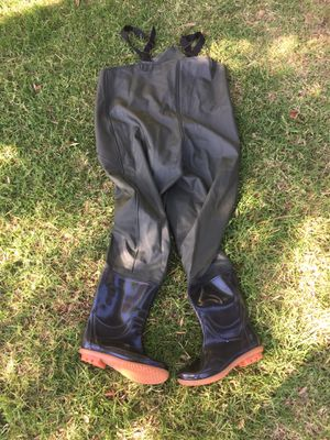 2-Ply Waterproof Chest Waders Fishing Hunting Nylon Rubber Bootfoot for Sale in Pomona, CA