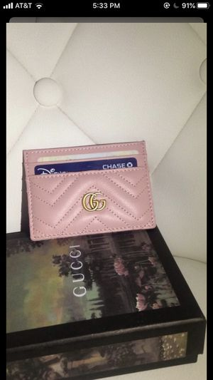 Gucci wallet card case light pink for Sale in Lynwood, CA