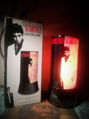 """AL PACINO (TONY MONTANA) ROTATING LAMP. MADE BY RABBIT TANAKA 1994.TALL-12"""" for Sale, used for sale  Leander, TX"""