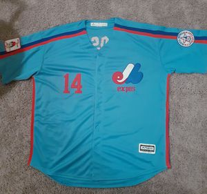 Expos Pete Rose Majestic Jersey 2xl $60 for Sale in Tacoma, WA