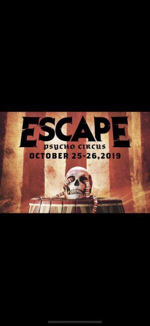 Escape tickets wrist bands for Sale in San Jose, CA