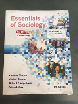 Essentials of Sociology - 6th edition for Sale in San Jacinto, CA