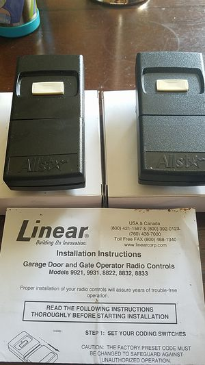 Garage Door and Gate Control LINEAR (Nine key) for Sale in West Hills, CA