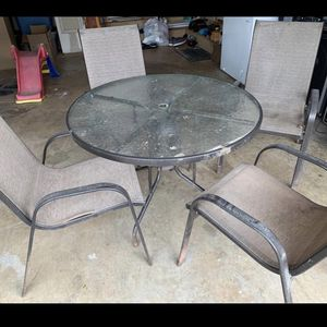 Patio Table With Four Chairs for Sale in Fairfax, VA