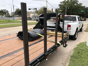 Pipe Stakes w/ drilled safety pin hole for Flatbed Hotshot & Gooseneck Trailer for Sale in Houston, TX