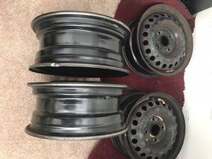 Steel rims Matte black 15'' for Sale in Alexandria, VA