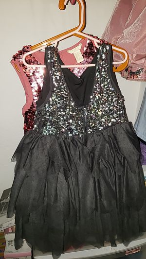 HM Holiday Christmas Sequins Fluffy Tear Flower Girl Dress Gray size 5/7 for Sale in Moreno Valley, CA