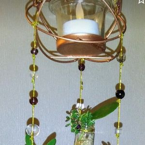 ~Candle Hanging Garden ~ 5 Glass Plant Jars ~ 21in long 4in wide for Sale in Aurora, CO