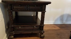 Wooden antique table with drawers for Sale in Tampa, FL