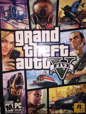 Grand theft auto 5 game For PC (Comes with 7 Disc and Los Santos Map) for Sale in Addison, TX