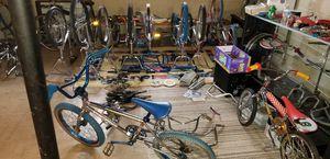 OLDSCHOOL BMX MONGOOSE SCHWINN ARAYA SCOOTERS FRAMES BIKES NEED ALOT GONE for Sale in Dearborn, MI