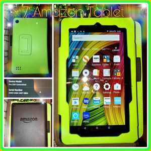 BARLEY USED!! Amazon Fire 7' TABLET w/ CASE INCLUDED for Sale in Las Vegas, NV