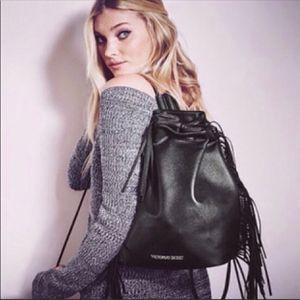 Victoria's Secret | Black Fringe Festival Backpack for Sale in Las Vegas, NV