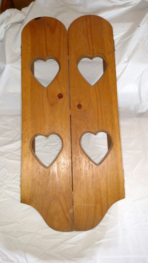 Oak wall curio with working doors for Sale in East Peoria, IL