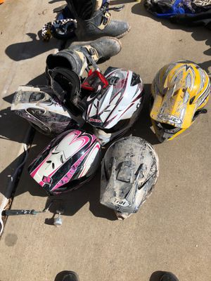 Only two atv helmets left and 2 motorcycle for Sale in Syracuse, UT