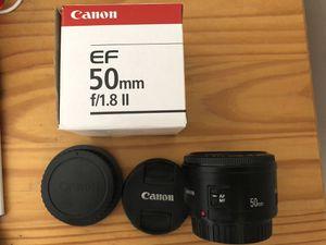 Canon EF 50mm F/1.8 II Prime Lens DSLR & Camera Strap for Sale in Lisle, IL
