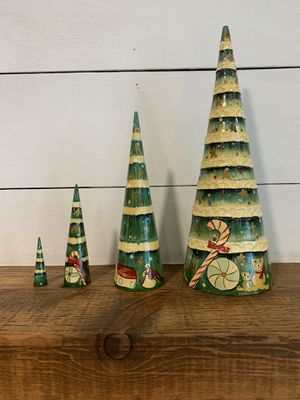 Vintage Russian nesting Christmas Trees for Sale in Hollywood, FL