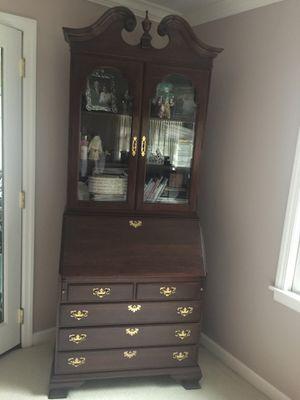 Ethan Allen solid cherry wood secretary desk, $500 for Sale in Elmhurst, IL