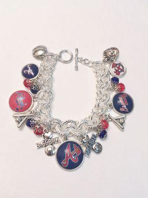 Atlanta Braves Multi Link Charm Bracelet. for Sale in Madera, CA