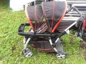 double, twin, baby stroller, Good condition, works as it should for Sale in Saint Paul, MN