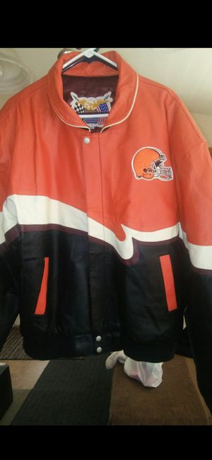 Cleveland Browns Leather Jacket size 2XL for Sale in Chino, CA