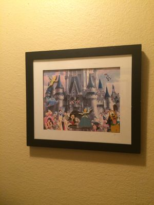 Walt Disney World Magic Kingdom Framed Pin Set for Sale in La Habra, CA