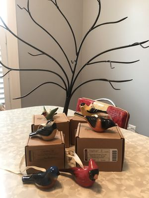 Longaberger Backyard Bird Tree and Birds for Sale in Johnstown, OH