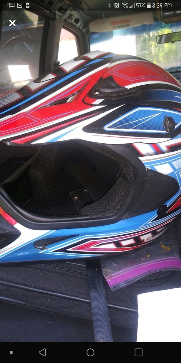 Open faced motorcycle helmet