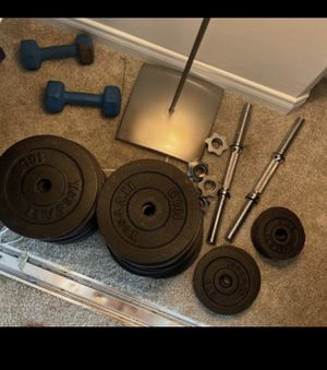 Adjustable dumbbell. 260 pd total for Sale in Los Angeles, CA
