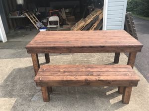Handcrafted Brown Rustic indoor/exterior dining table for Sale in Hebron, OH