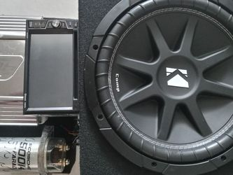 """Kicker Comp 12"""" Sub/(1)12"""" Box/ Orion Amp/boss Double Din Tv And Scosche for Sale in Hollywood,  FL"""