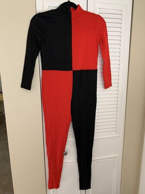Traditional Harley Quinn spandex costume size 12 - 14 for Sale in Altamonte Springs, FL