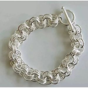 """Sterling silver plated 27g 7.5"""" bracelet bangle jewelry accessory for Sale in Wheaton, MD"""