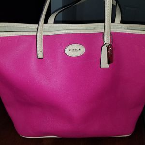 Hot Pink Coach Tote Bag for Sale in Austin, TX