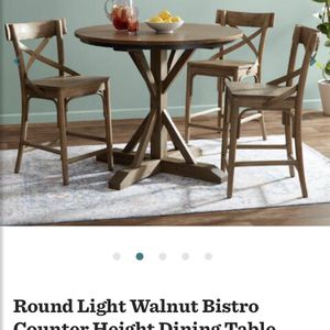 Walnut Farmhouse High Table Only New in Box for Sale in West Hartford, CT