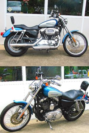 harley davidson sportster custom light blue for Sale in Riverview, FL