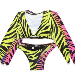 Matching Thong Bikini and Low Cut Long Sleeve Top for Sale in Manassas, VA