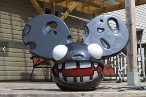 Deadmau5 Helmet with Cheesy Ears style, LED eyes and Lightweight but very Durable! for Sale in Jonesboro, AR