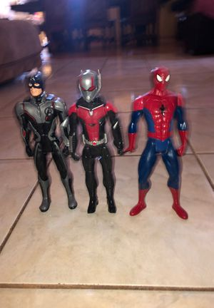 Spider man,Antman ,Captain America for Sale in Menifee, CA