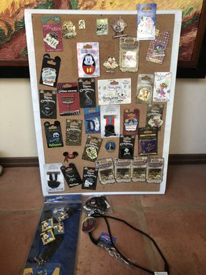 Disney pins and cast lanyard for Sale in San Diego, CA