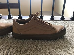 Tan lace up Vans, Women's size 8.5 for Sale in Vancouver, WA