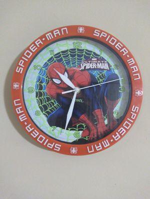 "Wall clock marvel spiderman 9"" diameter. for Sale in Orlando, FL"