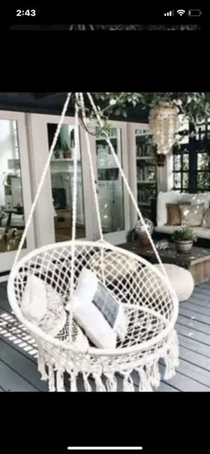 Deluxe Hammock Chair Patio Porch Yard Backyard Garden Tree Hanging Round Swing Outdoor Brand New for Sale in Miami, FL