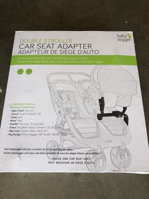 Baby Jogger Double Stroller car seat adaptor for Sale in Corona, CA