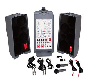 Fender Passport P-250 Portable PA Mixer Stereo Speakers Amplifier PLUS Tripod for Sale in FL, US